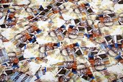 100 предпосылок счетов шекелей грязных Стоковые Фотографии RF