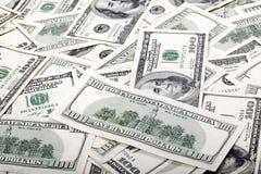 100 беспорядков счетов доллара - обратный Стоковое Изображение