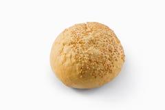 Взгляд высокого угла плюшки с семенами сезама Стоковое Фото