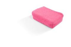 Взгляд высокого угла розовой губки ванны Стоковые Фото