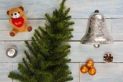 Взгляд высокого угла собрания орнаментов рождества Стоковые Фото