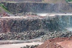 Взгляд в карьере шахты на поверхности Стоковые Фотографии RF