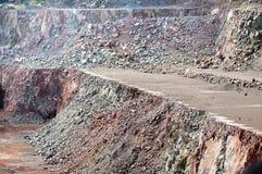 Взгляд в карьере шахты на поверхности Стоковая Фотография RF