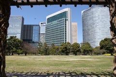 Взгляд в саде Hamarikyu - токио Стоковые Изображения