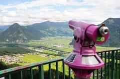 Взгляд в zillertal долину от места наблюдения Стоковые Изображения