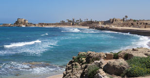 Взгляд гавани Caesarea Стоковое Фото