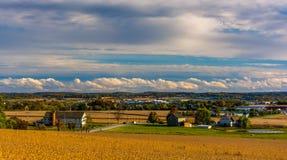 Взгляд Ганновера, Пенсильвании от высот Hershey Стоковые Фотографии RF