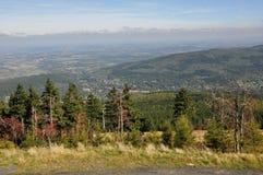 Взгляд гигантских гор/Karkonosze Стоковые Фото