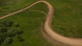 Взгляд гонки сверху Стоковые Фотографии RF