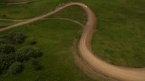 Взгляд гонки сверху Стоковые Фото
