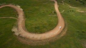 Взгляд гонки сверху Стоковое Изображение