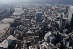 Взгляд горизонта города Лондона сверху Стоковые Фотографии RF