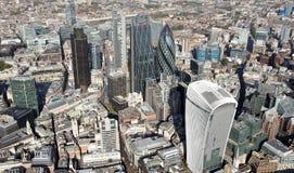 Взгляд горизонта города Лондона сверху Стоковое Фото