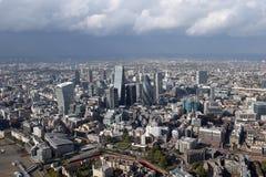 Взгляд горизонта города Лондона сверху Стоковые Фото