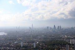 Взгляд горизонта города Лондона сверху Стоковые Изображения RF