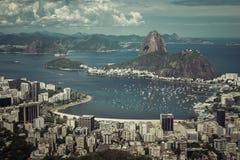 Взгляд горизонта Рио-де-Жанейро, Бразилии стоковое изображение