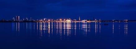 Взгляд горизонта Таллина панорамный Стоковые Фотографии RF