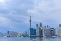Взгляд горизонта Торонто от шлюпки Стоковые Изображения RF