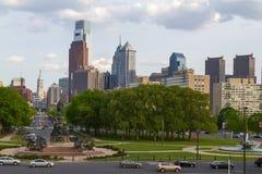 Взгляд горизонта Филадельфии, Пенсильвании - США стоковое изображение
