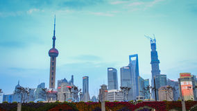 взгляд горизонта shanghai реки фарфора стоковые фото