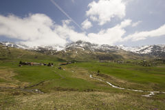 Взгляд горной вершины Flix Стоковые Фото