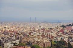 Взгляд города Барселоны Стоковые Фото