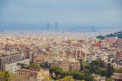 Взгляд города Барселоны Стоковая Фотография RF