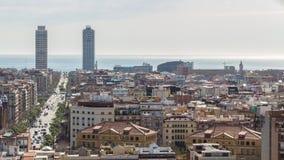 Взгляд города Барселоны Стоковое фото RF