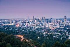 Взгляд города Брисбена от простофили-tha держателя Стоковые Изображения RF