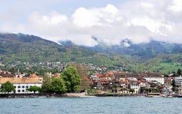 Взгляд города женевского озера Стоковые Изображения