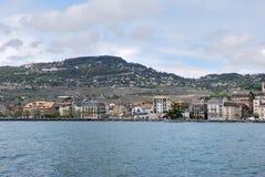 Взгляд города женевского озера Стоковая Фотография