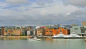 Взгляд города и порта Осло Стоковая Фотография