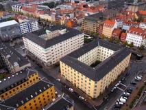Взгляд города Копенгагена, Дании Стоковое Изображение RF