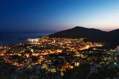 Взгляд города на ноче Стоковое фото RF