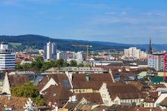 Взгляд города от башни собора Grossmunster Стоковое фото RF