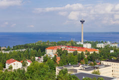 Взгляд города от высоты стоковые изображения