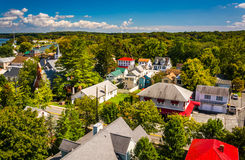 Взгляд города от моста города Чесапика, Marylan Чесапика Стоковое Фото