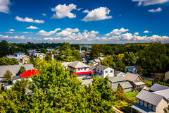 Взгляд города от моста города Чесапика, Marylan Чесапика Стоковые Изображения