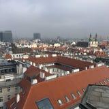Взгляд города от St Stephen & x27; церковь s, вена, Австрия Стоковые Фото