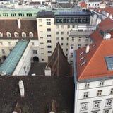 Взгляд города от St Stephen & x27; церковь s, вена, Австрия Стоковые Изображения
