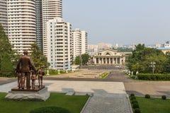 Взгляд города Пхеньяна Северная Корея Стоковая Фотография