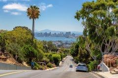 Взгляд города Сан-Диего с улицами города Стоковое Изображение RF