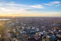 Взгляд города сверху - Торонто Торонто, Онтарио, Канады стоковые изображения rf