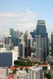 Взгляд города Сингапура от Skybridge стоковые фото