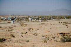 Взгляд города сляба рядом с горой спасения стоковое изображение rf