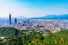 Взгляд города Тайбэя Стоковое Изображение