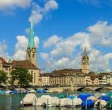 Взгляд города Цюриха в Швейцарии Стоковая Фотография RF