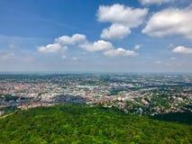 Взгляд города Штутгарта, Германии Стоковая Фотография
