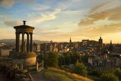 Взгляд города Эдинбурга от холма Carlton стоковая фотография rf