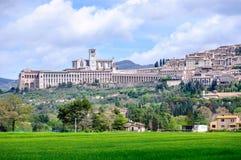 Взгляд города Assisi старого Стоковое Изображение RF
